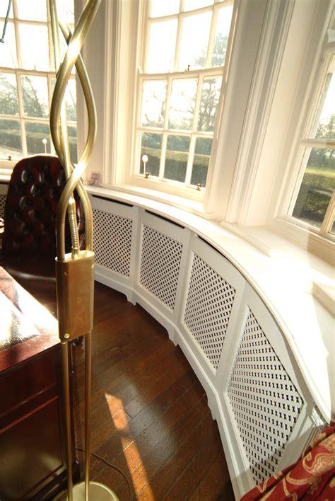 order curved radiator cabinet  bay windows