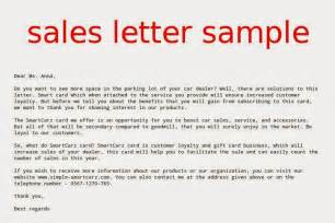 Sales Letter Template by Sales Letter Sle Sles Business Letters