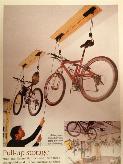 How To Hang Bicycles From The Ceiling by 25 Great Ideas About Hanging Bike Rack On