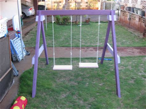 diy kids swing diy children s swing