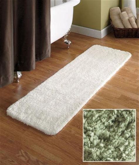 Plush Runner Rugs 54 Quot Microfiber Plush Bathroom Bath Runner Rug W Nonslip Backing In Beige Ebay