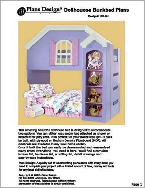 tradewins doll house loft bed a step by step photographic woodworking guide page 450
