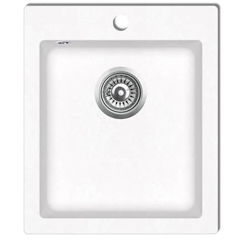 white single basin kitchen sink vidaxl co uk overmount kitchen sink single basin granite