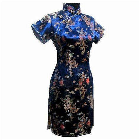 Helga Cheongsam Top Navy Blue aliexpress buy special offer navy blue