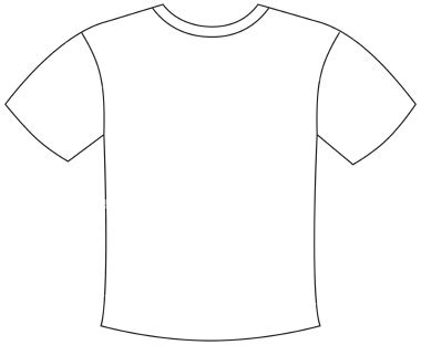 simple t shirt template picture of blank t shirt clipart best
