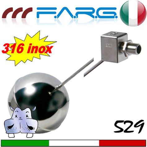 valvola rubinetto rubinetto a galleggiante farg 529 in acciaio inox aisi 316