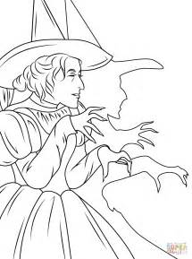 wizard of oz coloring pages wizard of oz witch coloring page free printable