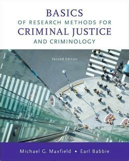basics of research methods for criminal justice and