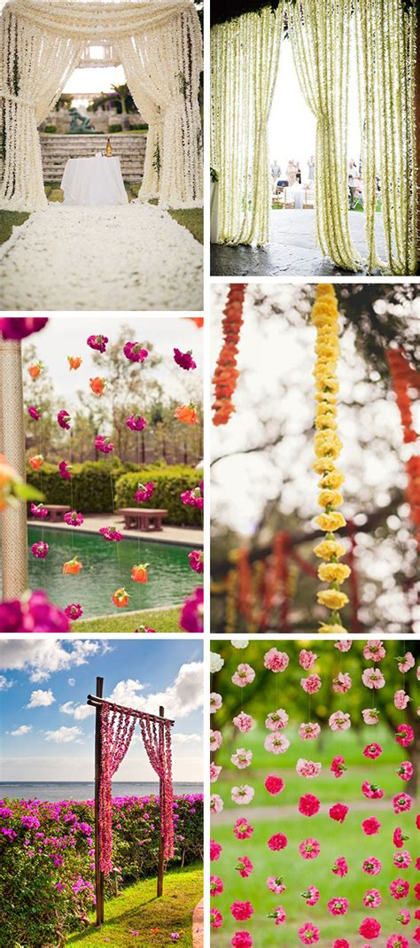 flower wedding garland dressing up your ceremony with a floral curtain the destination wedding jet fete by