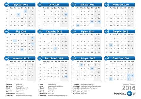 kalendarz 2016 do wydruku kalendarz 2016