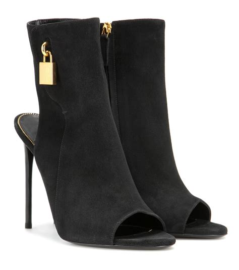 tom ford boots for tom ford padlock suede ankle boots in black lyst