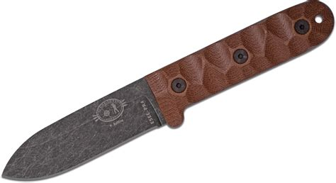 esee kitchen knives esee knives esee pr4 rollins c lore pr4 fixed 4 19 quot 1095 black stonewashed plain