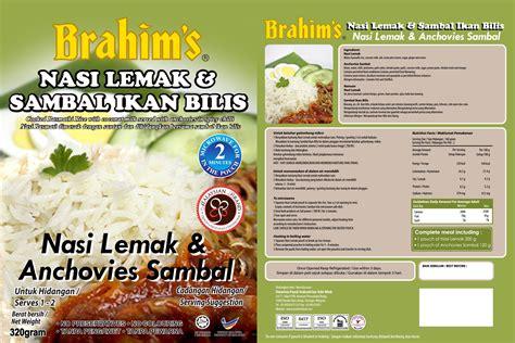 nasi lemak anchovies sambal ready to eat rice brahims
