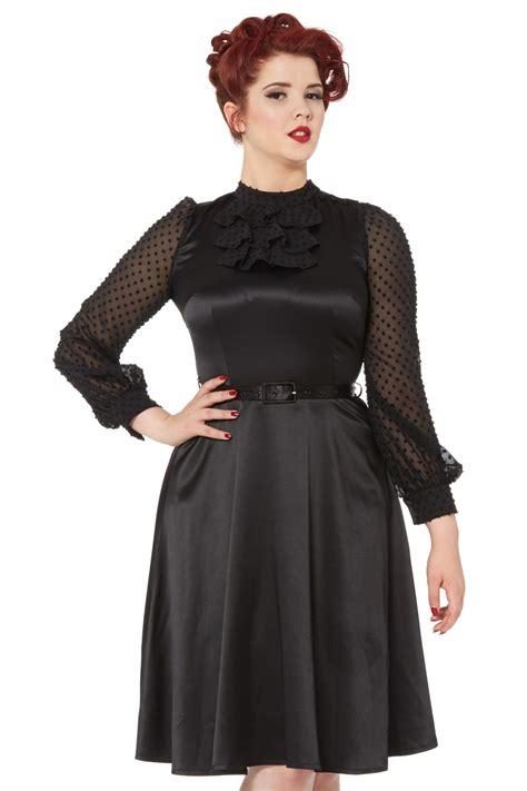 audrey flared  black dress vintage inspired