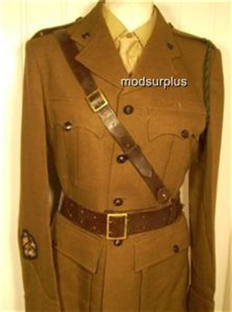 army surplus soldier officer sam browne leather