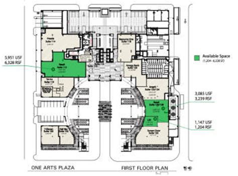 one arts plaza floor plans week02
