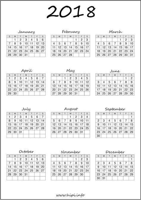 printable calendar 2018 a4 download free printable graphics