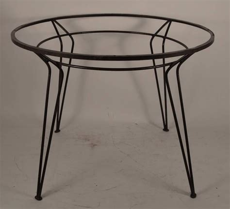 Glass Wrought Iron Dining Table Wrought Iron Table With Textured Glass Top After Salterini At 1stdibs