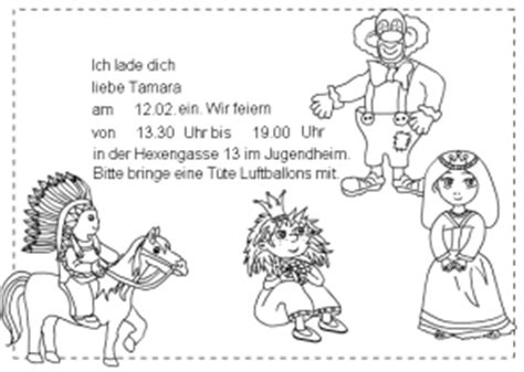 Muster Einladung Fasching Einladungskarten F 252 R Kinder Im Kidsweb De
