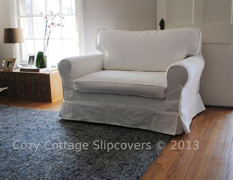 cottage slipcovers cozy cottage slipcovers brushed canvas chair and a half