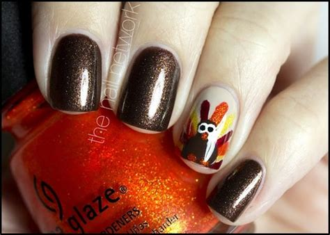 thanksgiving nail art gobble up some awesome nail art designs for thanksgiving
