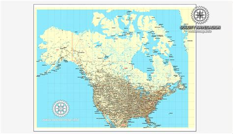 driving map of usa and canada usa canada printable vector counrty road map gps