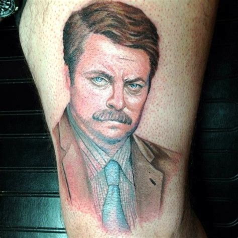 ron swanson tattoo best 25 brown ink ideas on brown