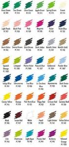 prismacolor 48 colored pencils sa92885 color chart prismacolor 48 color pencil set no