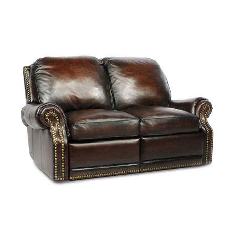 Leather Reclining Sofa Loveseat Barcalounger Premier Ii Leather 2 Seat Loveseat Sofa Leather 2 Seat Loveseat Sofa Furniture
