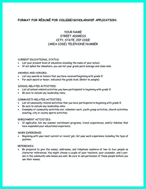 Resume For Application To College Write Properly Your Accomplishments In College Application Resume