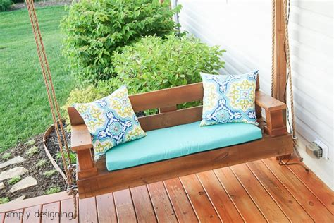 diy outdoor swing 20 effortless porch swing ideas building utmost beautiful