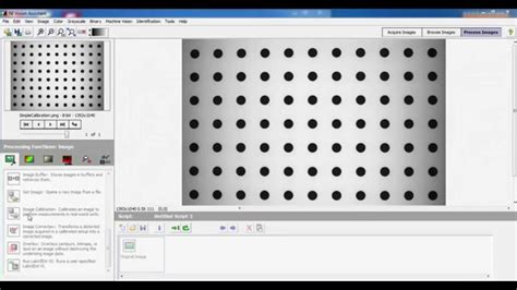 pattern matching ni vision assistant create a calibration data based on grid pattern using ni