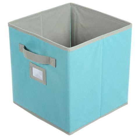 martha stewart living half width fabric drawers martha stewart living 10 1 2 in x 11 in lagoon blue