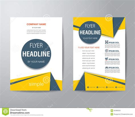 1 page flyer template corporate brochure flyer design layout template in a4 size with best and various templates design