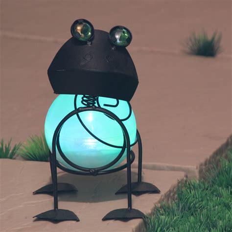 solar frog lights garden frog lights home outdoor decoration