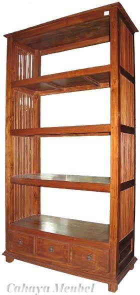 rak buku jati model minimalis simple buatan jepara lemari buku kayu jati jepara jual rak buku minimalis jati