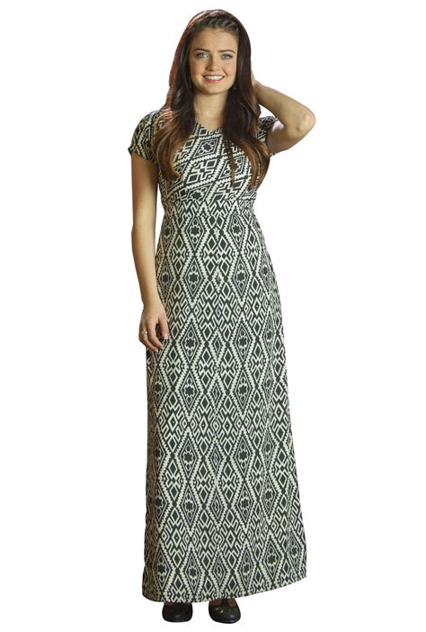 Modest Maxi Dresses by Modest Maxi Length Dresses With Sleeves Melinda In Aztec
