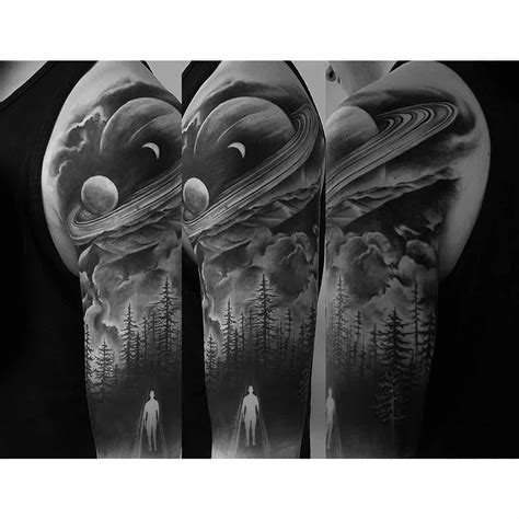 black and white space tattoo western realism black and grey archives chronic ink