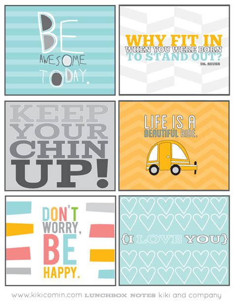 printable lunchbox notes lunchbox notes kiki company whipperberry