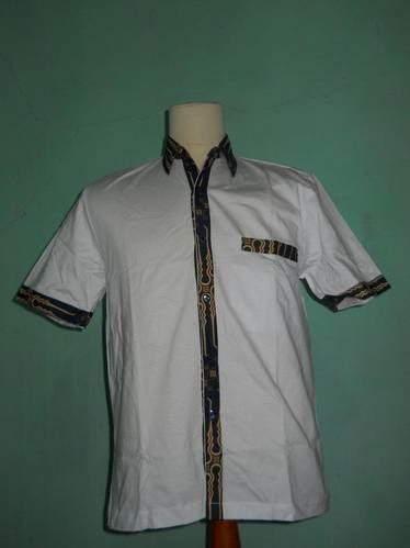 Kemeja Kombinasi 01 Dinomarket 174 Pasardino Kemeja Kombinasi Kaos Putih Batik