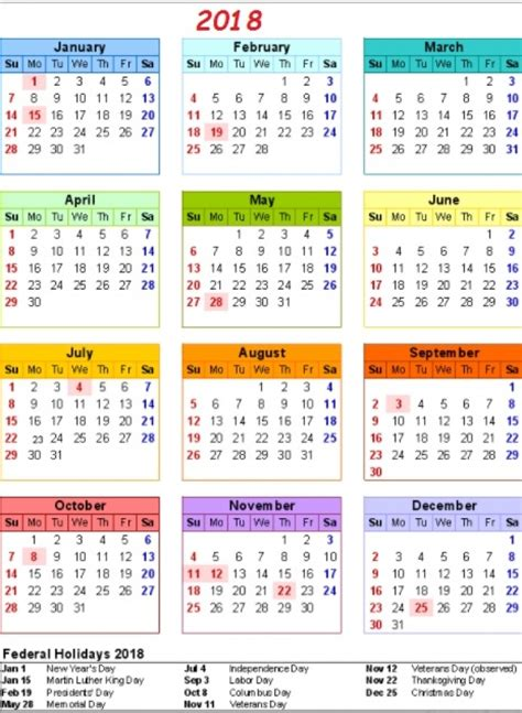 printable calendar 2018 with us holidays calendar 2018 philippines with holidays 2018 calendar