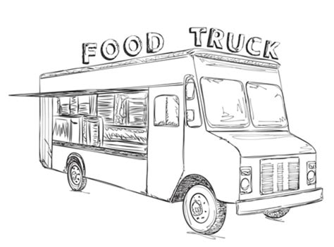 food truck coloring page weekly open thread what s your favorite food truck