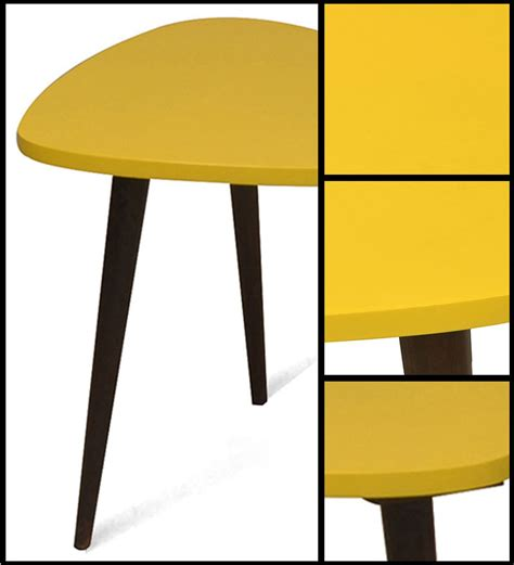 Yellow Accent Table Yellow Accent Table District17 Accent Table In Yellow With Drawer Tables Mid Century Modern