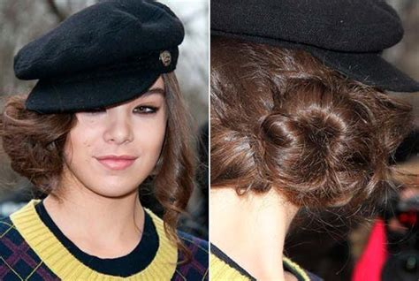 womans topper worn in ponytail hairstyles with bun to make your baseball cap outstanding