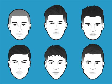 haircuts based on face shape male the best men s haircut for every face shape business