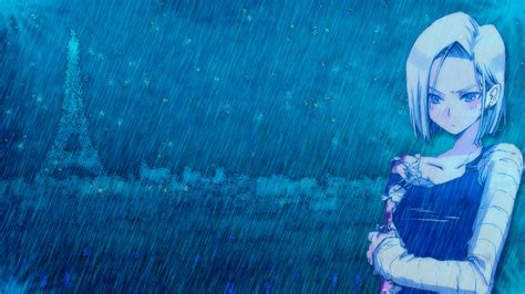 wallpaper girl hd android android 18 rain wallpaper by mikedarko on deviantart