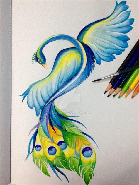 watercolor peacock  miilo  deviantart
