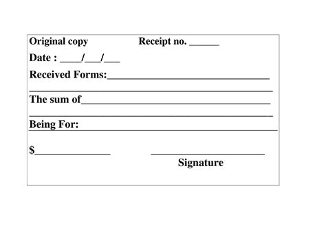 signature receipt template 10 best images of signature of receipt form check