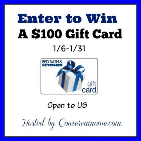 Bed Bath And Beyond Gift Card Amount - enter to win a 100 bed bath and beyond gift card giveaway