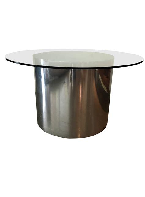 drum coffee table modern steel drum coffee table chairish